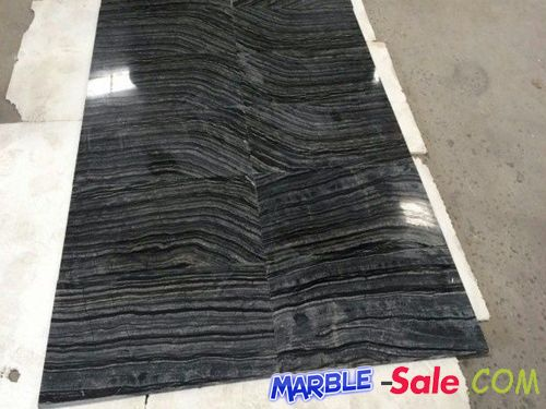 Zebra Black Marble Tiles Flooring