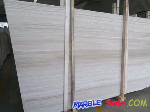 Serpeggiante White Wood Grain Marble Slabs