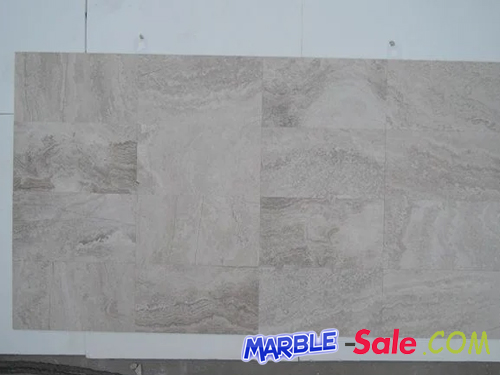 White Wooden Marble Tiles Cut