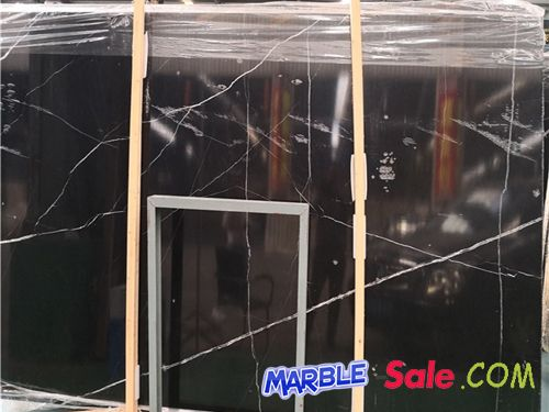 Black White Veins Nero Marquina Marble Slabs
