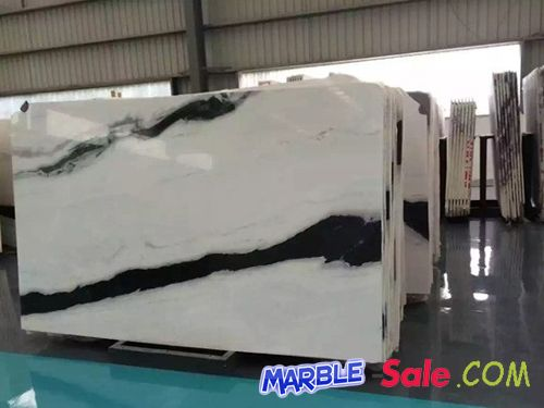 Panda White Marble Slab With Black Vein